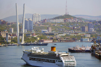 Costa Victoria cruise ship in Vladivostok, Russia