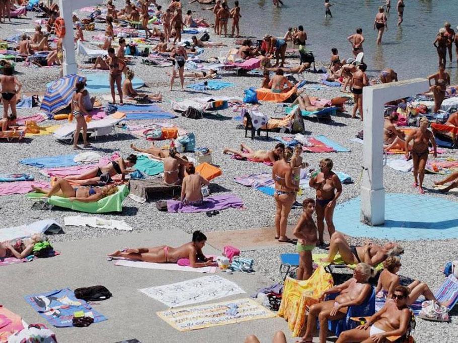 Der Frauen-Strand
